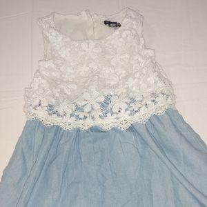 Girls Limited Too Denim/Lace Dress
